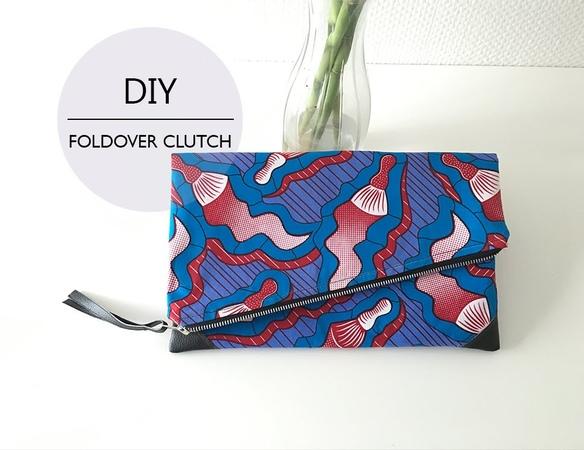 DIY Foldover Clutch DIY Pochette Pliable