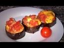 Закуска из баклажанов и помидоров с чесноком и сыром очень быстро и просто Баклажаны в духовке