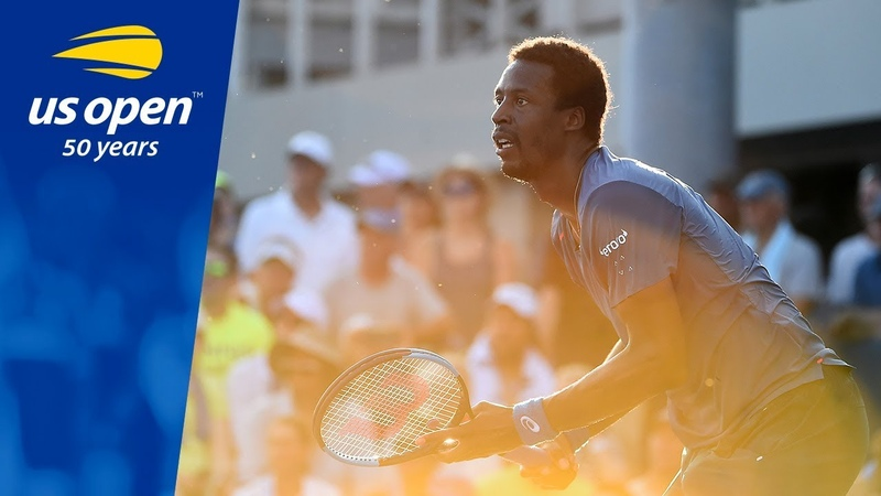Gael Monfils vs Facundo Bagnis in R1 action at the 2018 US Open