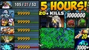 5 Hours GAME   99999 Net Worth   20 Rosh Kills   1000 Sentries   20 Rapiers   Super Epic Dota 2