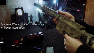 Airsoft Systema PTW upgrade to HPA + Tracer integration