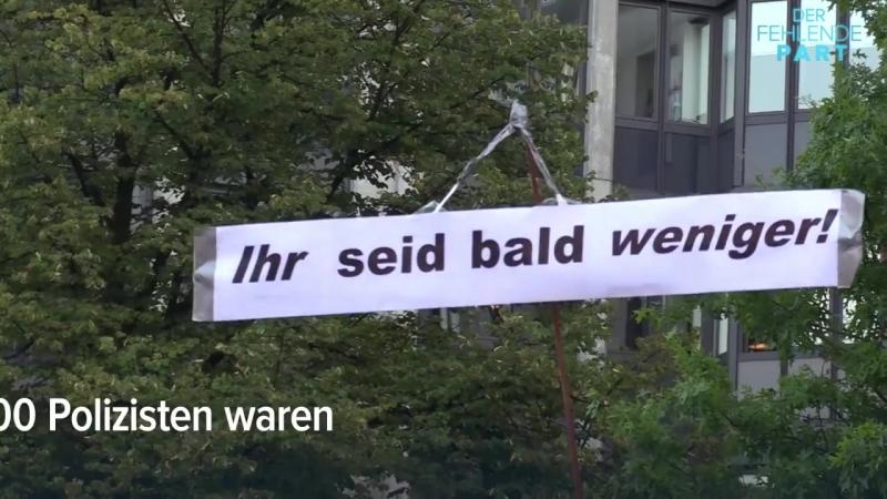10.000 Gegendemonstranten überschatten Merkel muss weg-Demo in Hamburg - Der Fehlende Part