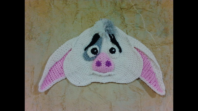 Прихватка Поросенок Пуа, ч.1. Pothook is a pig of Pua, р.1. Amigurumi. Crochet.