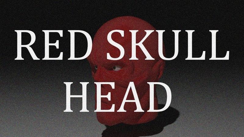Red skull head Speed sculpt конец .