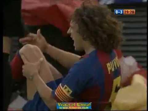 Season 20042005. Malaga CF - FC Barcelona - 04 (highlights)
