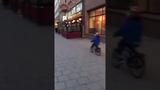 Kid goes oh la la and crashes