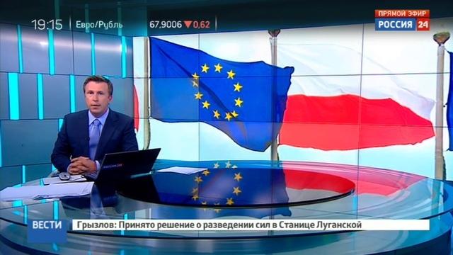 Новости на Россия 24 Польше грозят санкции ЕС за попрание судебной системы