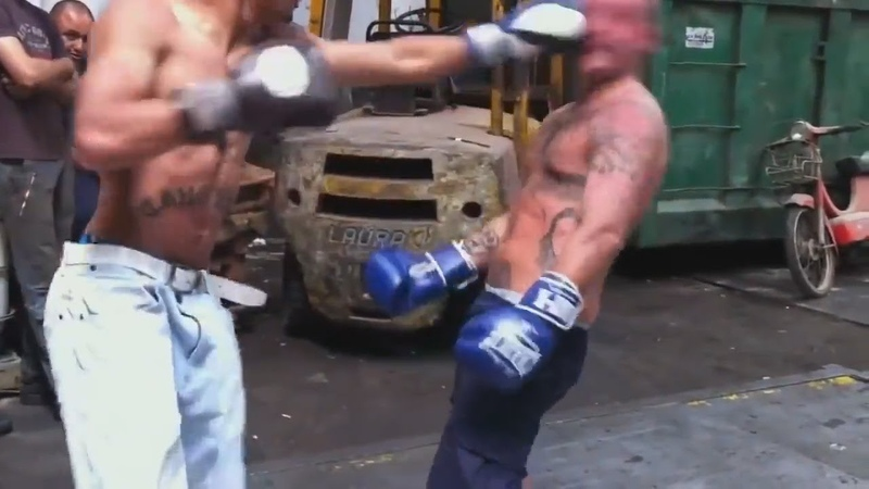Amateur Boxing behind warehouse Iron Jaw MUST WATCH