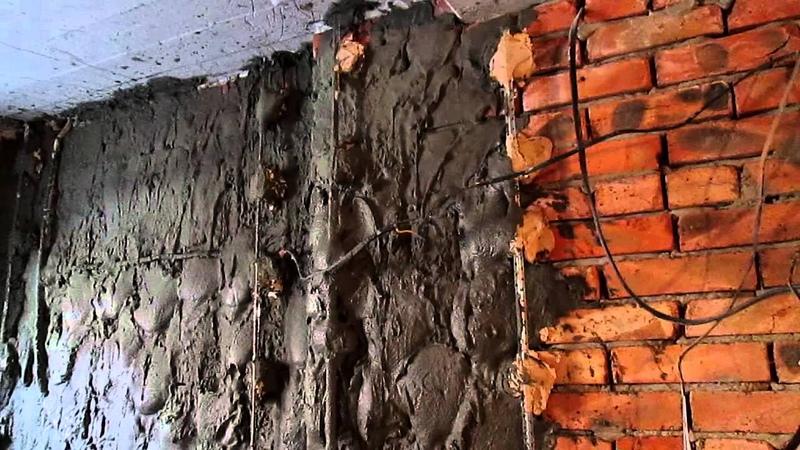 штукатурка стен , цементно песчанным раствором, часть 1