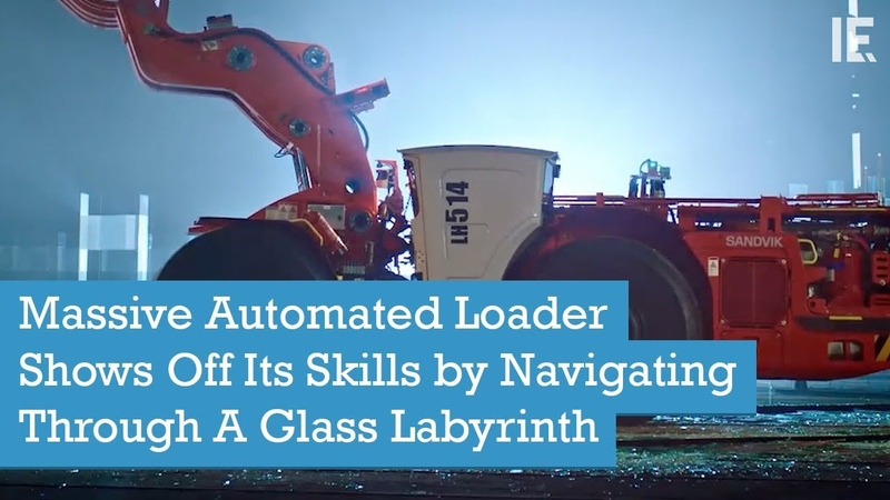 Massive Automated Loader Shows Off Its Skills by Navigating Through A Glass Labyrinth