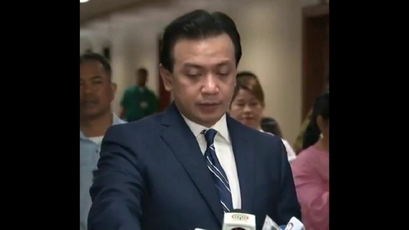Trillanes on the libel complaints of Paolo Duterte issue.