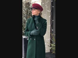 Классическое пальто с нотками милитари😍