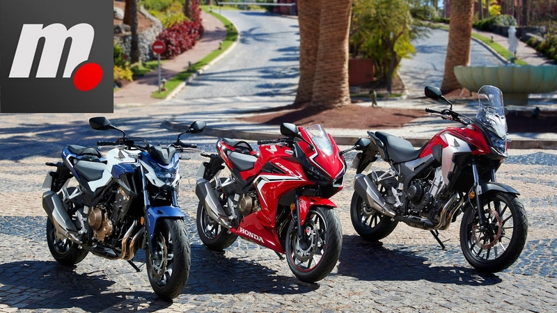 Honda CB500F/CB500X/CBR500R 2019   Presentación / Test / Review en español HD