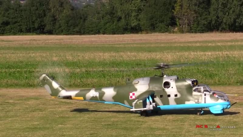 Гигантский вертолет на пульте управления