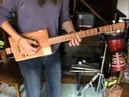 3 string Belinda Cigar Box Guitar with Juju pick up my 1st fretted build!!