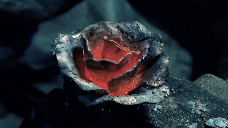 Кованная роза (Blacksmithing - Forging a rose)