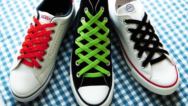 〔靴紐の結び方〕ダイヤモンドのような模様になる靴ひもの通し方 how to tie shoelaces  Diamond Lace Shoes〔生活に役立つ!〕