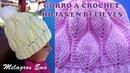 Gorro a crochet con hojas en relieves paso a paso INDICACIONES PARA DIFERENTES EDADES