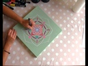 Mandala painted with acrylic colors and posca pens by Lia ronen