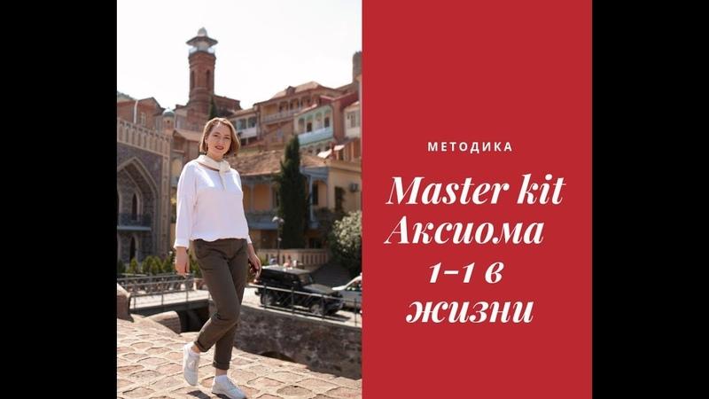 Методика Master kit, аксиома 1-1 в жизни