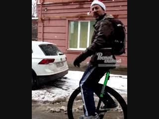 Акробат на одноколёсном велосипеде 3.1.2019 Ростов-на-Дону Главный