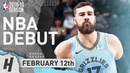 Jonas Valanciunas Full GRIZZLIES DEBUT Highlights vs Spurs 2019.02.12 - 23 Pts, 10 Reb