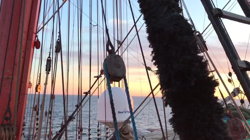 На барке «Седов», Северное море, переход из Гамбурга в Киль