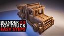 Blender 2.8 tutorial: Toy truck