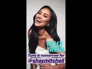 Shay Mitchell on Live with Kelly and Ryan's Instagram Story (4 сентября 2018)