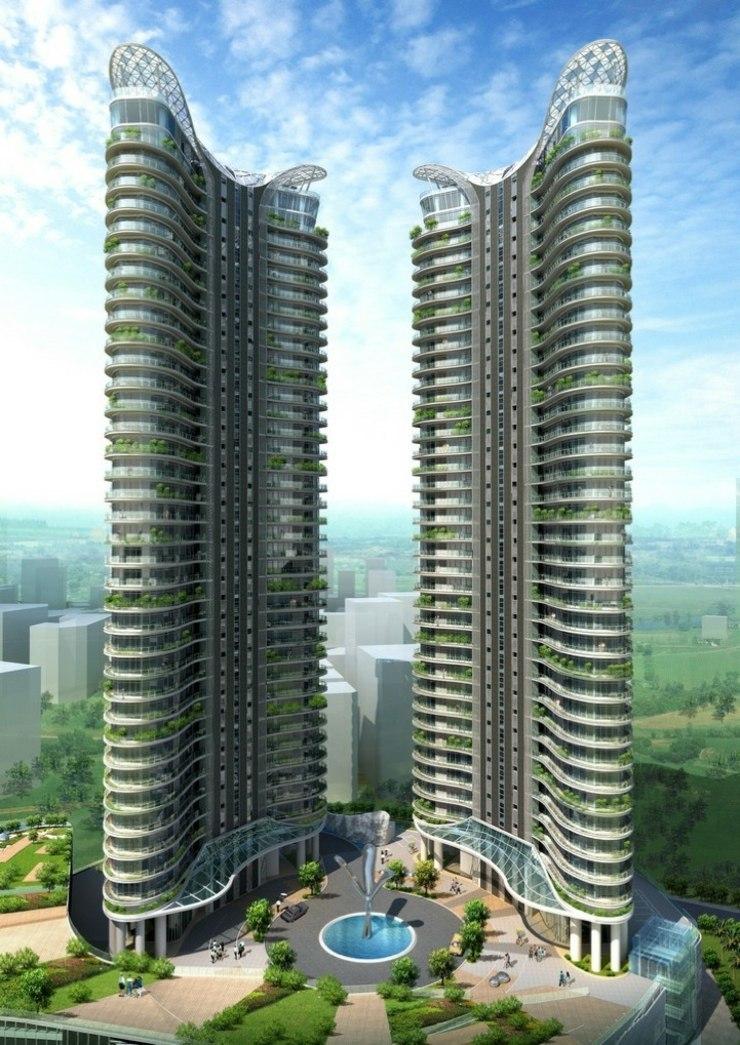 Чудесный балкон-бассейн — потрясающий проект жилого комплекса от Джеймса Лова.