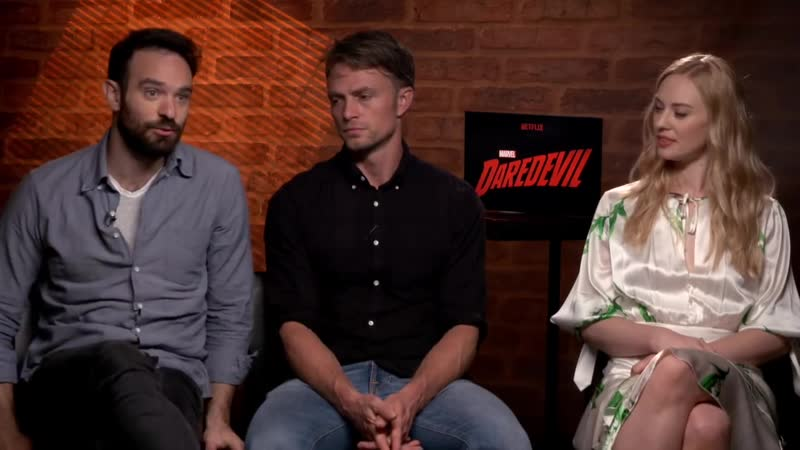 DAREDEVIL Season 3 interviews - Charlie Cox, Woll, DOnofrio, Bethel, Ali, Whall