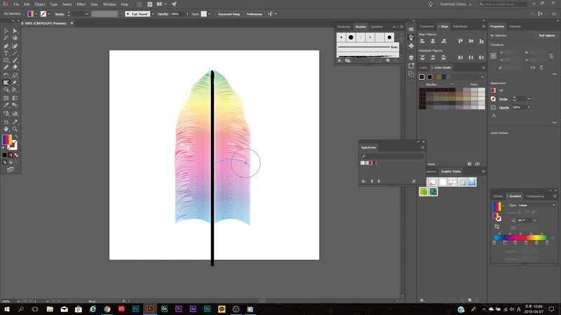 How to make Spectrums Feather Illustrator CC tutorial Beentm