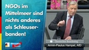 NGOs im Mittelmeer sind nichts anderes als Schleuserbanden Armin Paul Hampel AfD Fraktion