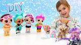 Одежда для кукол Лол своими руками DIY - Видео для девочек