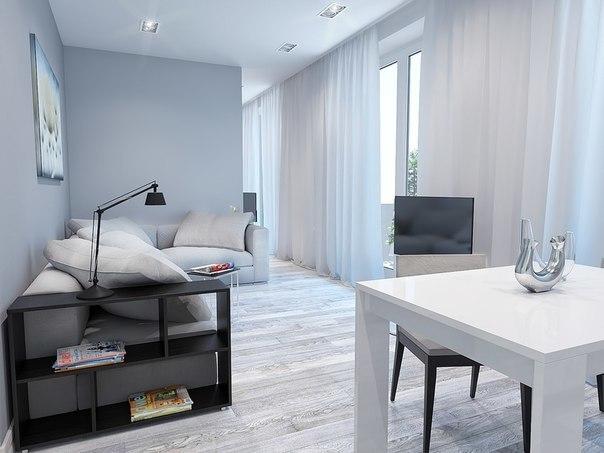 Проект светлой квартиры-студии