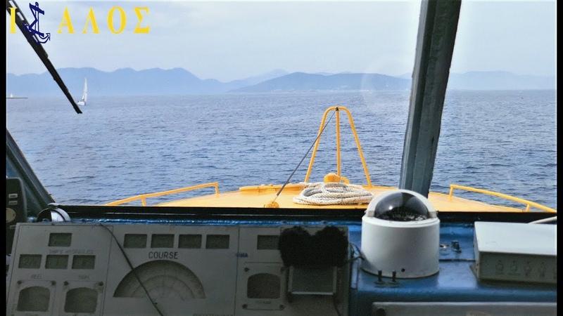 Flying dolphin (F/D) Athina - Πτήση για Αίγινα μέσα απο τη Γέφυρα (Trip to Aigina) | 4K