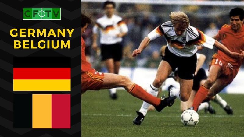 Germany - Belgium 1992 EURO Qualifying (Full Match)