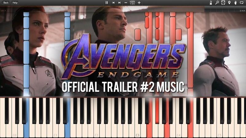 Avengers Endgame Official Trailer MusicTrailer 2 Music (Synthesia Piano Tutorial)SHEETSMIDI