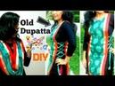 Convert old dupatta into jacket for your kurthi salwar anarkali reuse old dupatta dupatta styles