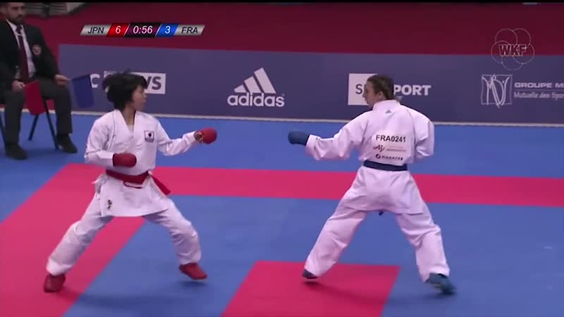 KARATE1 Premier League Paris 2018 kumite female -50kg final Miho Miyahara vs Ale