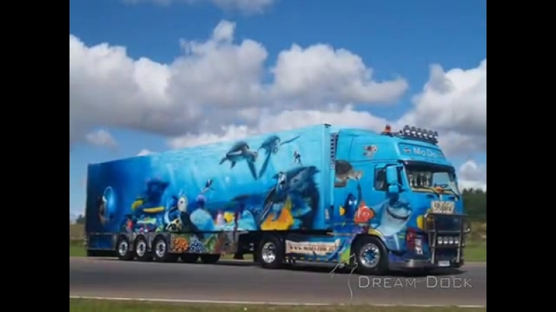 VOLVO FH OUTSTANDING AIRBRUSH TRUCK FINDING NEMO MoDo Transport