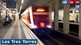 Les Tres Torres L6 - S5 - S6 - S7 Metro FGC Barcelona ( UT 112 - 113 )