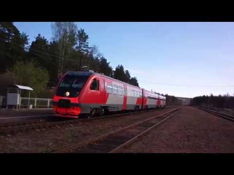 Рельсовый автобус РА2 на станции Приветненское