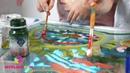 Двойняшки зажигают играя со световой песочницей Myplayroom