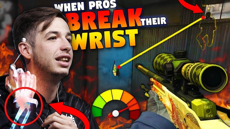 CS:GO - When PROS FLICK so HARD they BREAK their WRIST! *2018* ft. kennyS, s1mple, FalleN More!