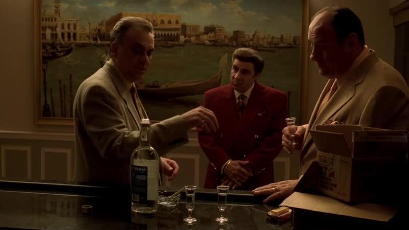 (Клан Сопрано S04E12_08) Джонни Сэк пытается договориться с Тони попроцентам