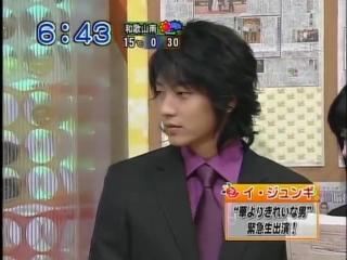 2007.03.16 Интервью на ТV Осака Доброе утро Lee Joon-Gi