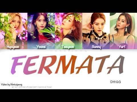 Girls Generation OH GG 소녀시대 Fermata 쉼표 Color Coded Lyrics Eng Rom Han