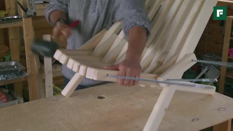 Мастер класс стильный дачный шезлонг за копейки Строительные лайфхаки FORUM