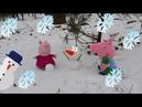 Свинка Пеппа Мультики для детей  Снег Cartoon for kids Pig Peppa Snow